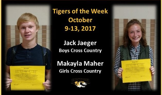Tigers of the Week – Oct 9-13 – Jack Jaeger & Makayla Mher