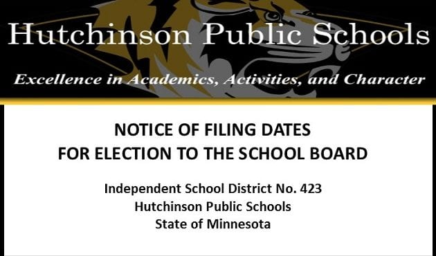 School Board Election – Notice of Filing Dates